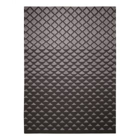 tapis esprit home moderne noir wanda