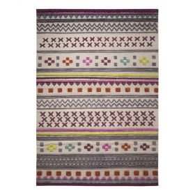 tapis ethnic chic moderne multicolore