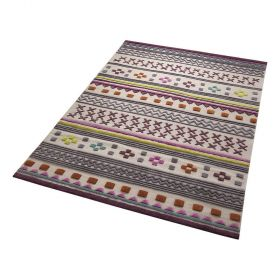 tapis moderne ethnic chic multicolore