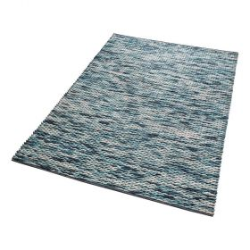 tapis moderne reflection bleu