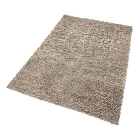 tapis fluffy moderne marron esprit home
