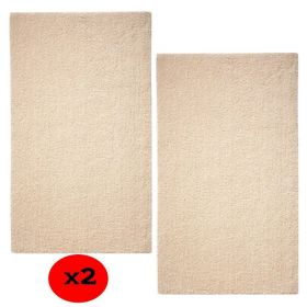 lot de 2 tapis de bain beige natural remedy esprit home