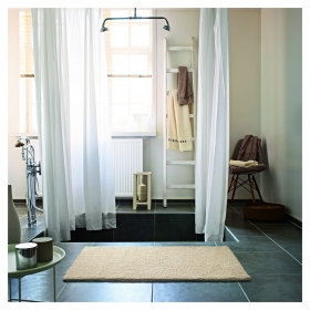 tapis de bain natural remedy beige esprit home