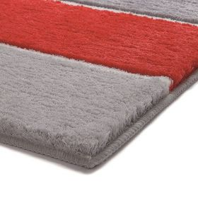 tapis de bain esprit orange block stripe