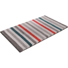 tapis de bain esprit line stripe orange