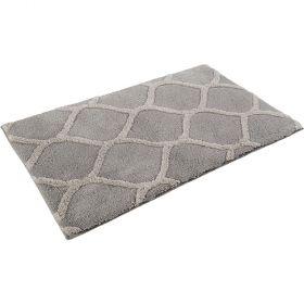tapis de bain esprit oriental tile argent