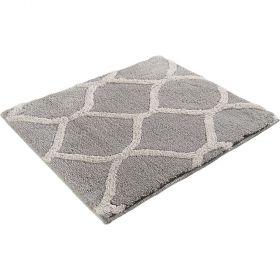 tapis de bain oriental tile argent esprit