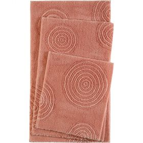 tapis de bain esprit yoga orange