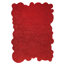 tapis circle rouge esprit home moderne