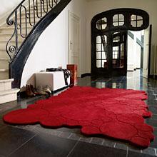 tapis moderne circle rouge esprit home