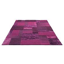 tapis moderne esprit home patchwork violet