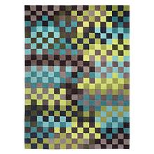 tapis moderne pixel esprit home bleu et vert