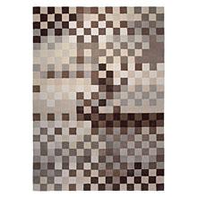tapis pixel moderne marron et beige esprit home