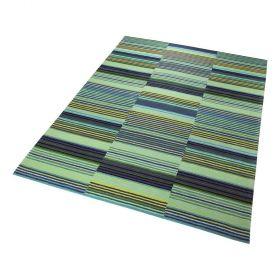 tapis moderne vert esprit colorpop