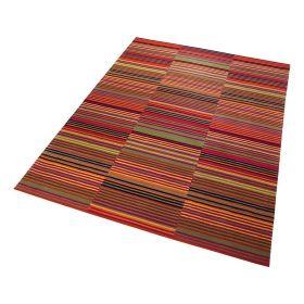 tapis moderne esprit rouge colorpop