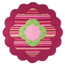 tapis flower shape rose esprit home