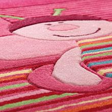 tapis esprit home enfant bee rose