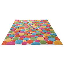 tapis esprit home color drops multicolore