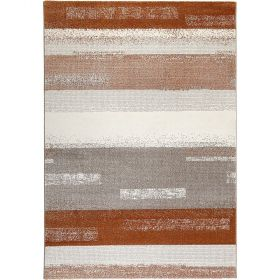tapis dreaming orange et gris - esprit