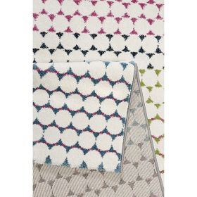 tapis rose moderne happy esprit