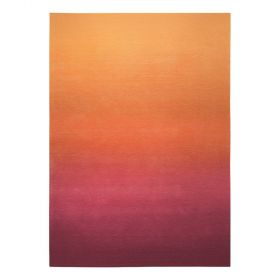 tapis sunrise esprit orange moderne