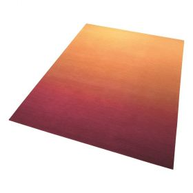 tapis moderne sunrise orange esprit