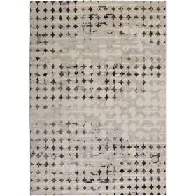 tapis moderne velvet spots gris esprit