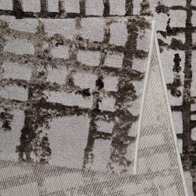 tapis moderne velvet grid beige esprit