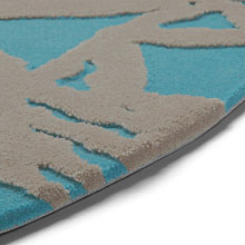 tapis turquoise oriental lounge esprit home