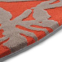 tapis esprit home oriental lounge orange