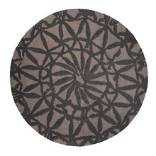 tapis rond oriental lounge taupe esprit home