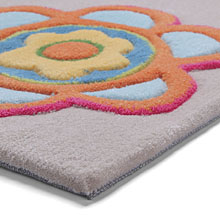 tapis esprit home back to flower power sable