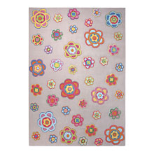 tapis back to flower power sable esprit home
