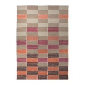 tapis moderne fida orange esprit home