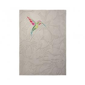 tapis tufté main colibri beige esprit home