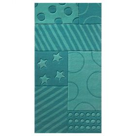 tapis enfant stars and stripes turquoise esprit home