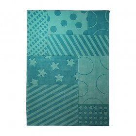 tapis stars and stripes esprit home turquoise