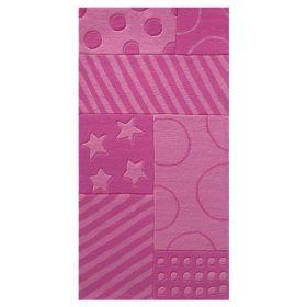 tapis enfant stars and stripes rose esprit home
