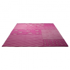 tapis enfant stars and stripes rose esprit home
