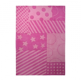 tapis esprit home stars and stripes rose