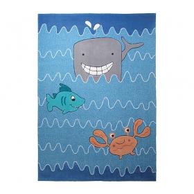 tapis enfant esprit home sealife bleu