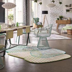 tapis graphic jungle moderne vert