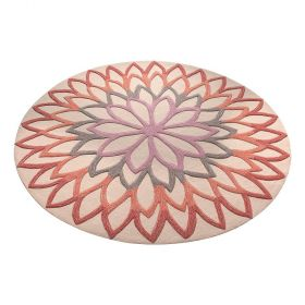 tapis moderne esprit orange lotus flower