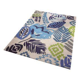 tapis esprit tara moderne bleu