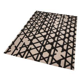 tapis artisan pop moderne noir et blanc esprit