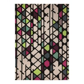 tapis moderne esprit multicolore artisan pop