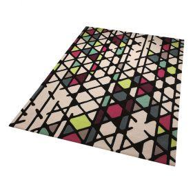 tapis moderne multicolore esprit artisan pop