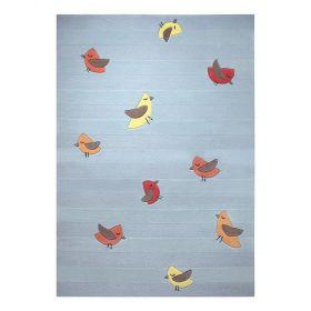 tapis enfant bleu esprit birdie