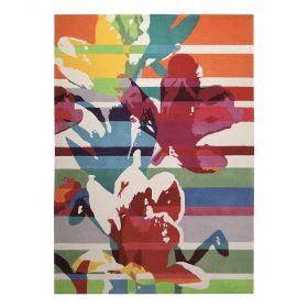 tapis floria moderne multicolore esprit