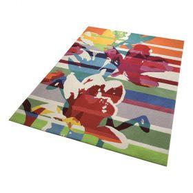tapis moderne multicolore esprit floria